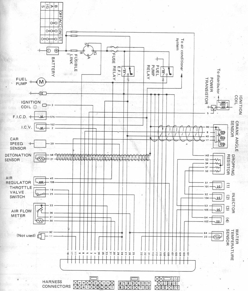 nissan ecu wiring diagram